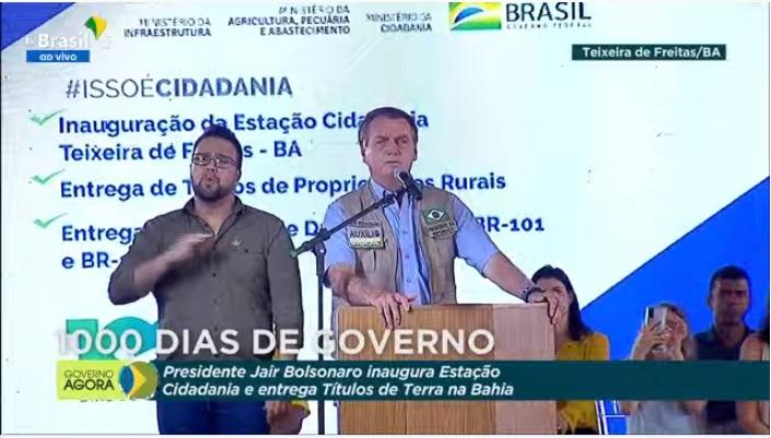 Milhares de apoiadores e deputados prestigiam Bolsonaro em evento na Bahia