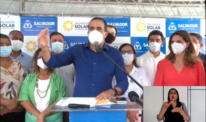 Bruno Reis lança programa 'Salvador Solar' com isenção de IPTU e redução do ISS