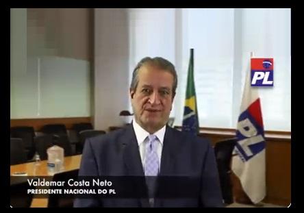 Em vídeo, Valdemar Costa Neto fala como Bolsonaro já fosse filiado ao PL; assista
